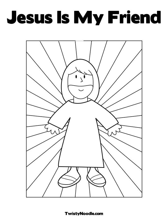 Jesus My Superhero Coloring Page Sketch Coloring Page