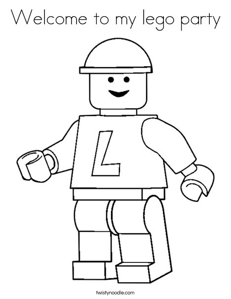 welcome to my lego party coloring page  twisty noodle