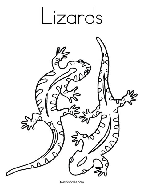 Lizard Coloring Sheet Free Coloring Library