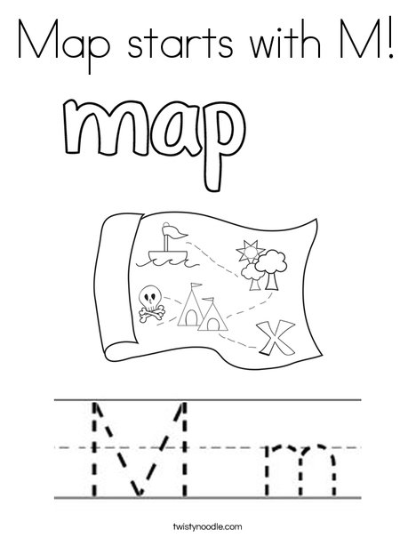 m coloring page # 30