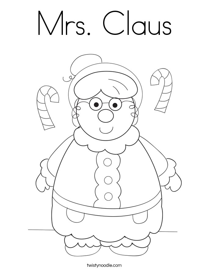Merry Chistmas And Mrs Claus Coloring Pages Coloring Pages