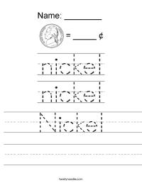 Nickel Worksheet - Twisty Noodle