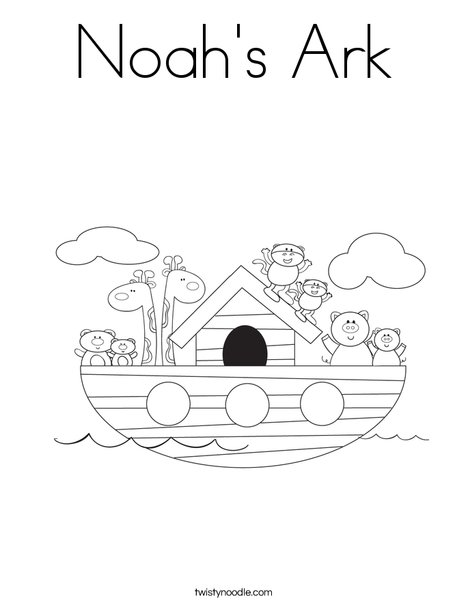 Noah's Ark Coloring Pages : noah's, coloring, pages, Noah's, Coloring, Twisty, Noodle