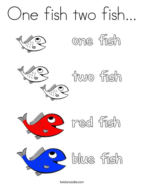 one fish two fish coloring pages # 5