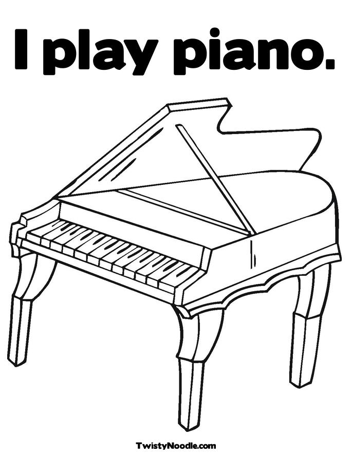 Keyboard Printable Coloring Pages