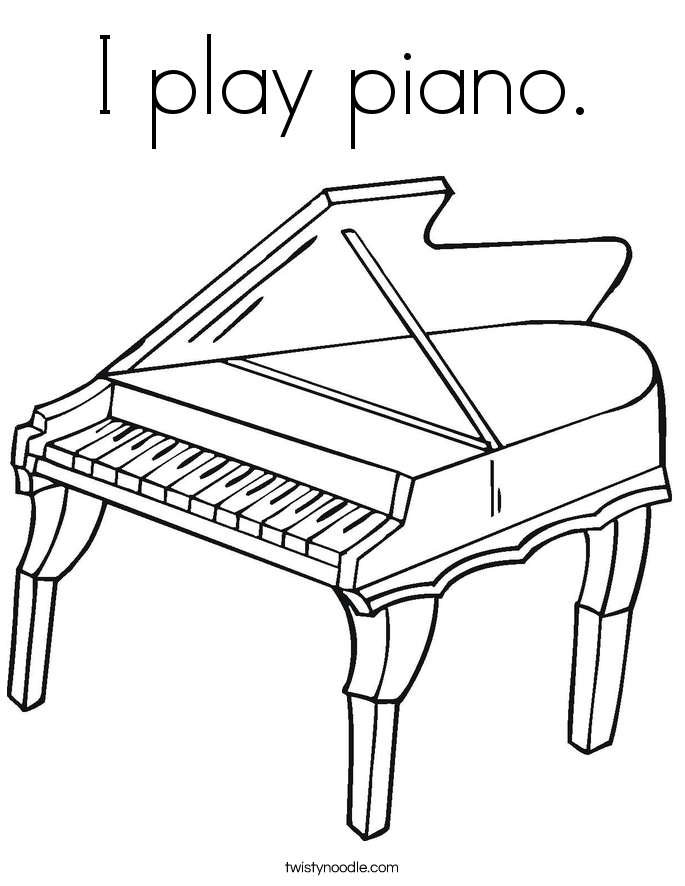 Coloring Page Pianist