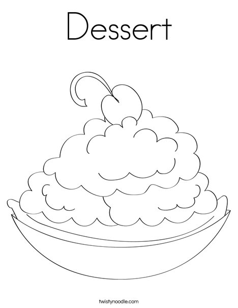 dessert coloring page  twisty noodle