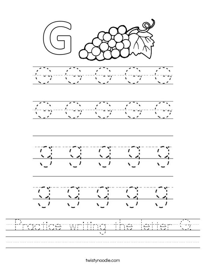 Handwriting G