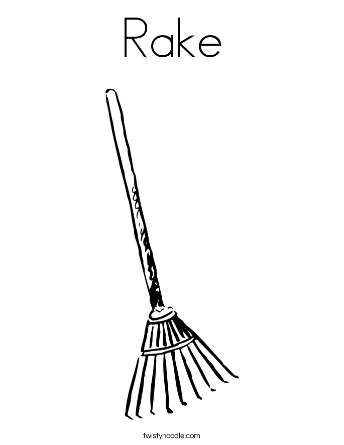 Rake Coloring Coloring Pages