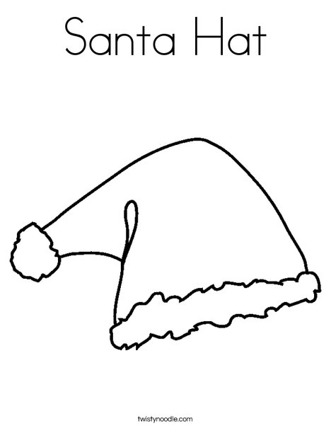 Santa Hat Colouring Page : santa, colouring, Santa, Coloring, Twisty, Noodle
