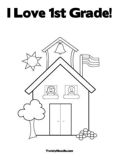grade 1 Colouring Pages