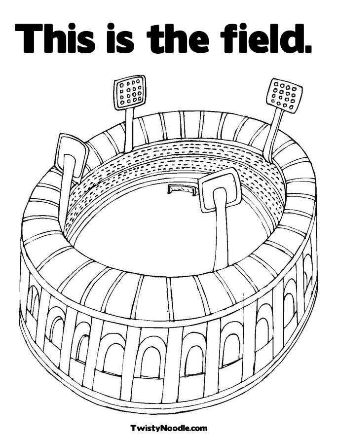 Field Day Coloring Page http://solarradio.com/clock/field
