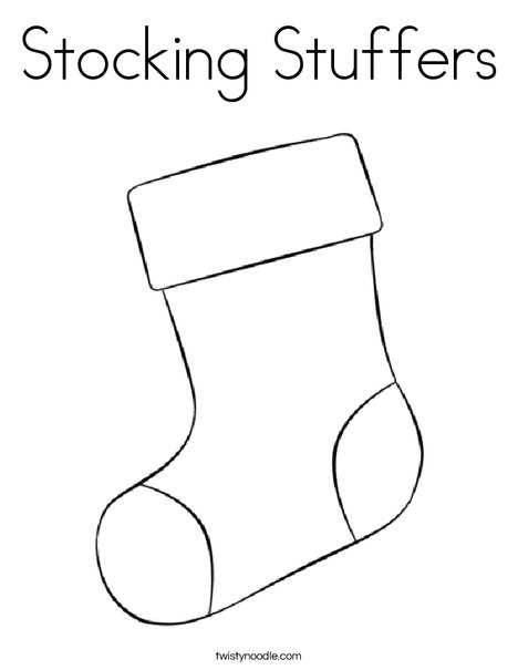 stocking coloring pages # 11