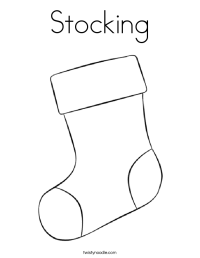 Stocking Coloring Page - Twisty Noodle