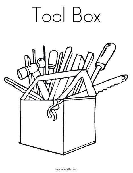 Tool Box Coloring Page : coloring, Coloring, Twisty, Noodle