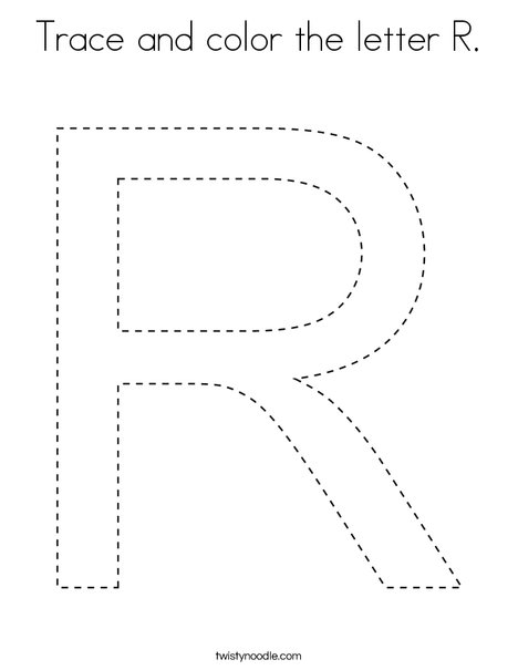 letter r coloring page # 43