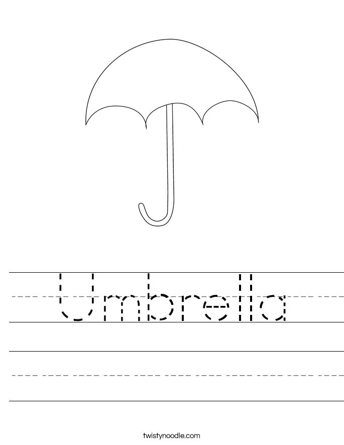Umbrella Worksheet  Twisty Noodle