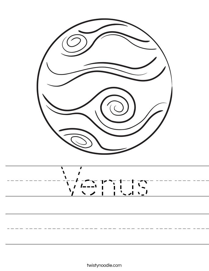 Venus Worksheet