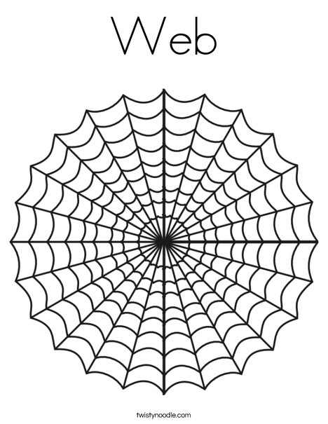 spider web coloring page # 5