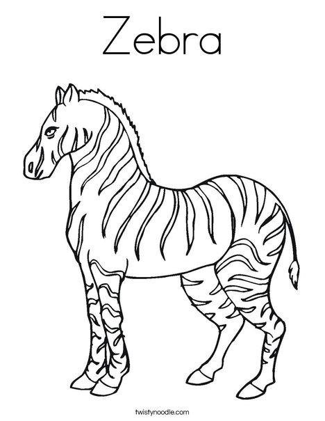 Zebra Coloring Sheet : zebra, coloring, sheet, Zebra, Coloring, Twisty, Noodle