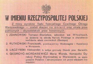 Kierownictwo Walki Podziemnej dbało o wymiar sprawiedliwości, opierając się na przedwojennym prawie.