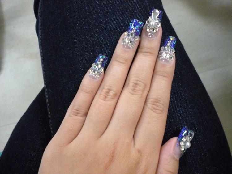 我的超華麗紫色水鑽水晶指甲~圖多---非常婚禮veryWed.com