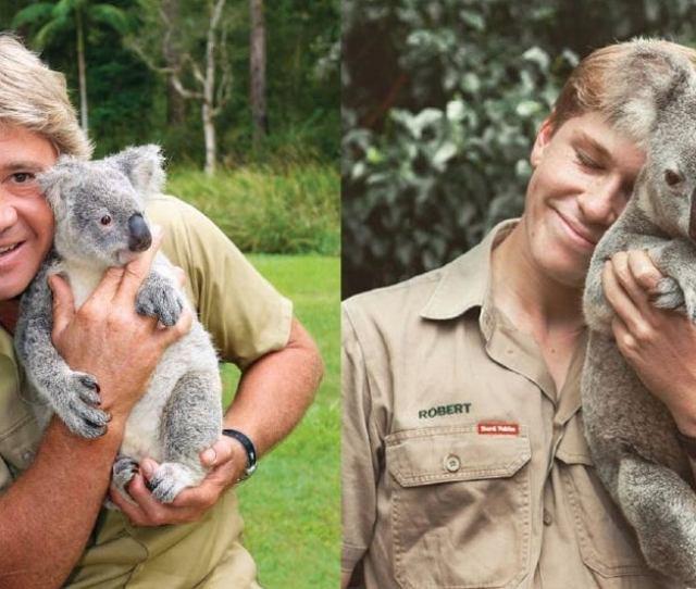 Robert Irwin Recreates Iconic Photo Of His Father Crocodile