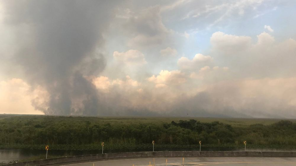 medium resolution of everglades fire covers 50 square miles alligator alley temporarily shut down