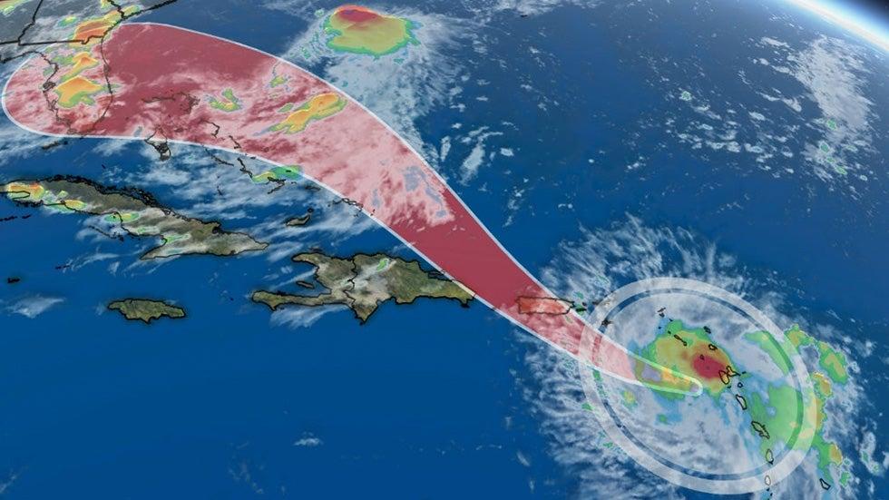 tropical storm dorian headed