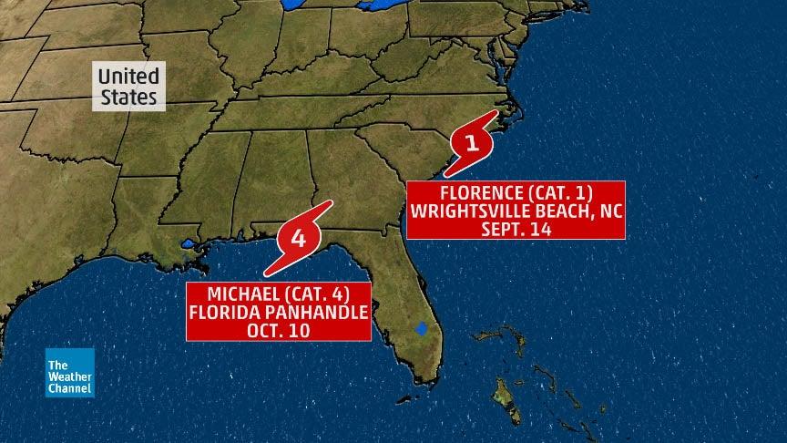 Map Of Hurricane Michael Damage : hurricane, michael, damage, Florence,, Michael, Retired, Following, Destructive, Strikes, During, Atlantic, Hurricane, Season, Weather, Channel, Articles, Weather.com