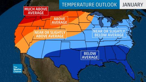 JanuaryMarch 2019 Temperature Outlook Cold in East