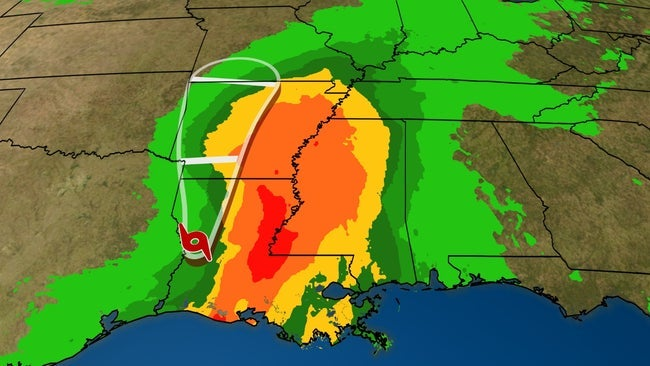 Barry Now Bringing Heavy Rain To The Gulf Coast Dangerous
