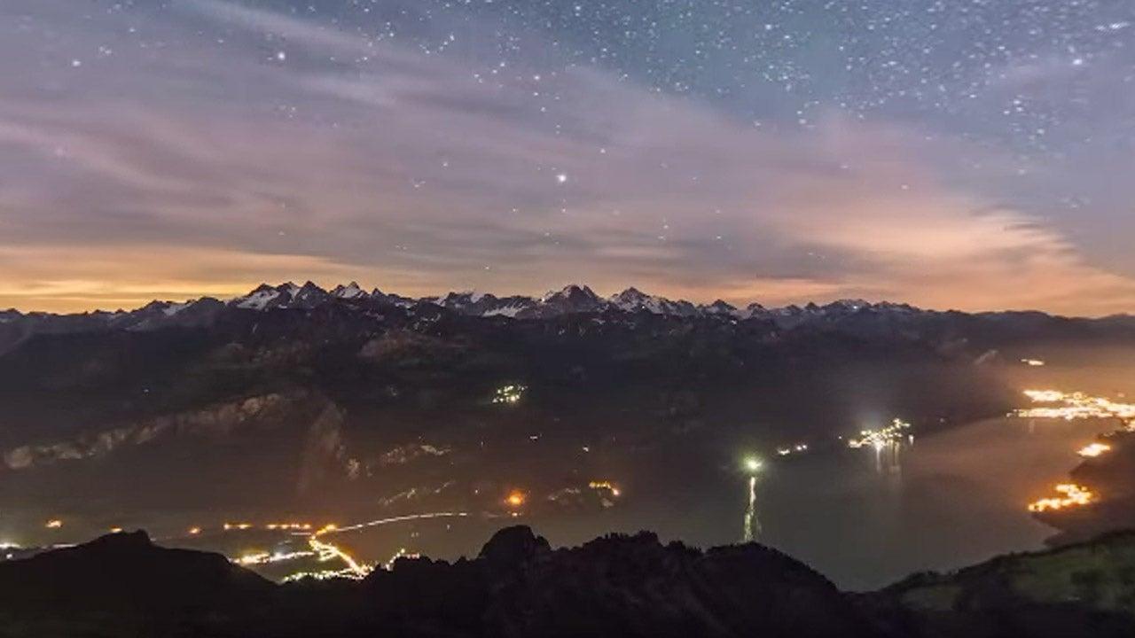 montagnes suisses sous