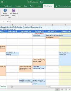 Ics data to schedule in excel also convert icalendar and word rh wincalendar