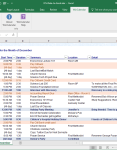Ics data to excel table also convert icalendar and word rh wincalendar