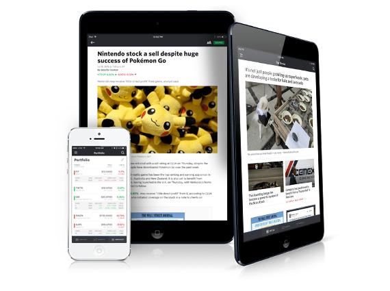 mobile marketwatch get marketwatch