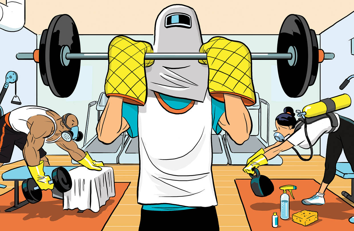 How to work out and stay safe in gyms during COVID times
