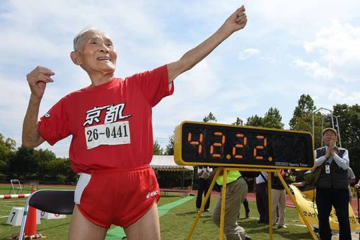105-Year-Old Man Sets World Record by Completing 100-Meter Sprint - WSJ