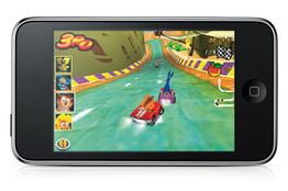 Activision's Crash Bandicoot Nitro Kart 3D game on Apple's iPhone