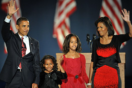 [President-elect Barack Obama and family members]