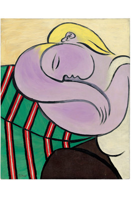 Femme aux cheveux jaunes, December 1931 | From the Estate of Pablo Picasso/Artists Rights Society, New York/Gagosian Gallery | Image courtesy - online.wsj.com | Click for larger image.