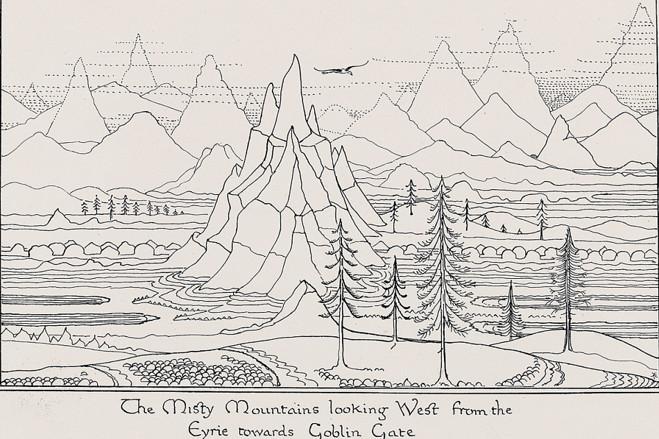 J.R.R. Tolkien's Illustrations for 'The Hobbit' (Slideshow