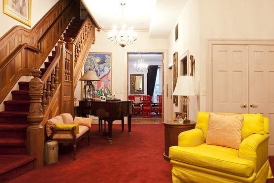 Yellow And Purple Living Room