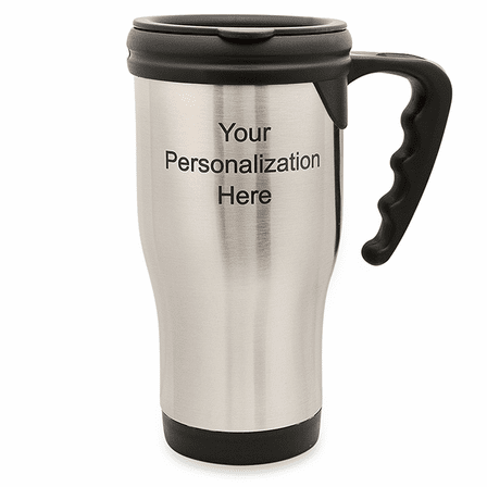 Personalized Stainless Steel Travel Coffee Mug With Handle Executive Gift Shoppe