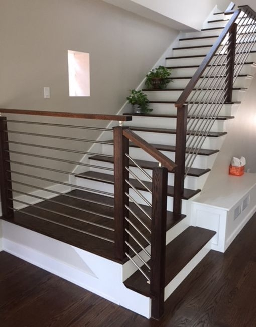 Modern Stair Railing Span Stainless Steel Span Stair Parts | Modern Style Stair Railing | Handrail | Art Deco | Rustic Farmhouse | Decorative | Unique Fancy Stair