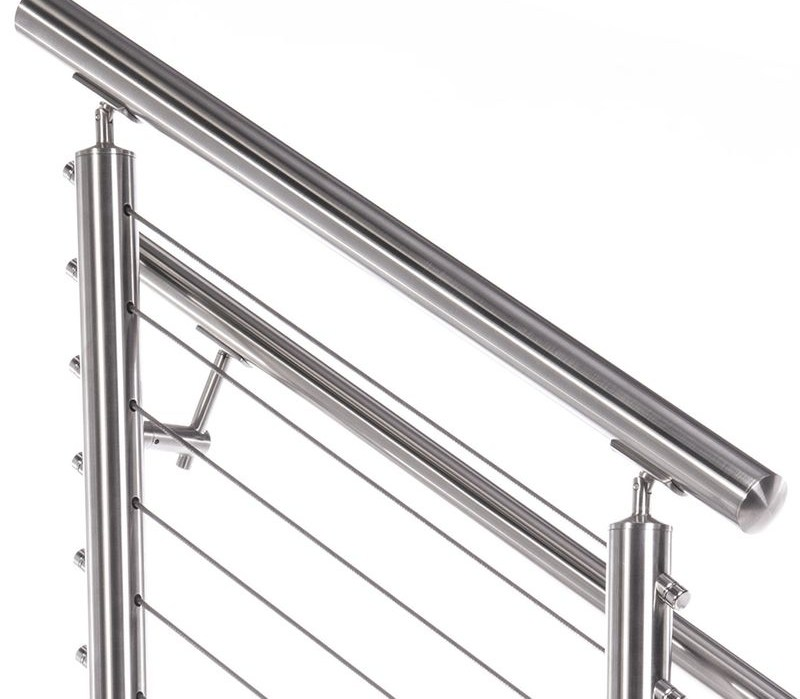 2 Round Top Rail For 2 Round Stainless Steel Railing System | 2 Inch Round Wood Handrail | Stair Parts | Outside Diameter | Stair Treads | Handrail Brackets | Oak Wood