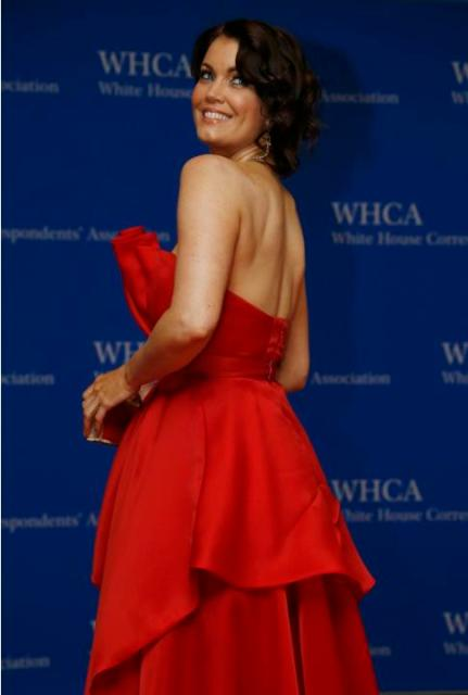 Actress Bellamy Young arrives on the red carpet at the annual White House Correspondents' Association Dinner in Washington