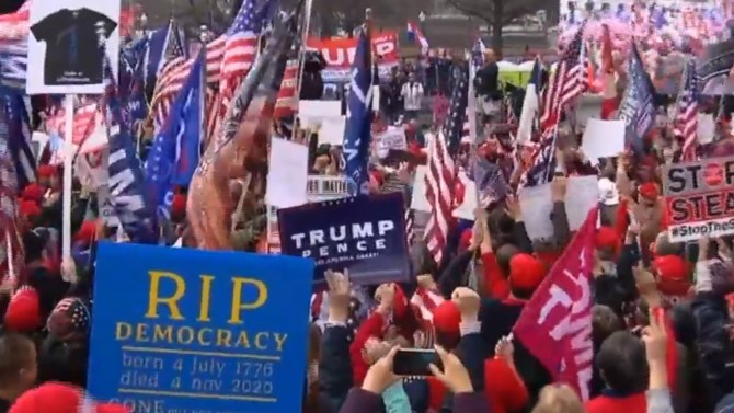 Thousands of Trump supporters rally in Washington, D.C. to protest election results