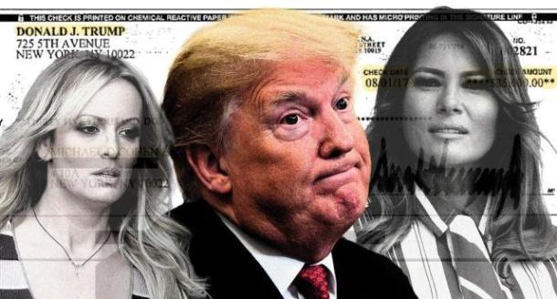 Stormy Daniels, Donald Trump and Melania Trump. (Photo illustration: Yahoo News; photos: AP (3), Courtesy Michael Cohen/Handout via Reuters)