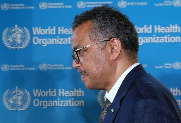 PHOTO: Tedros Adhanom Ghebreyesus, director-general of the World Health Organization, attends a news conference in Geneva, Switzerland, on June 25, 2020. (Denis Balibouse/Reuters)